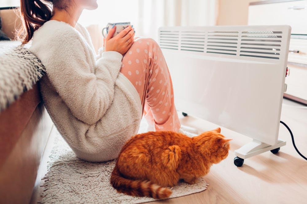 calentador casa invierno mujer